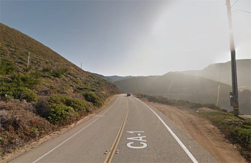 2016 - Bixby Creek Bridge on Cabrillo Hwy south of Carmel Highlands in Monterey, California, USA (Google Streetview)