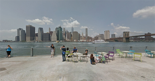 2016 - Brooklyn Bridge Park in Brooklyn Heights in New York, USA (Google Streetview)