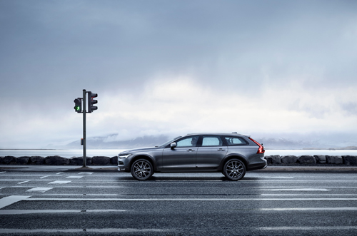 2016 - Volvo V90 Cross Country on Sæbraut in Reykjavík on Iceland.