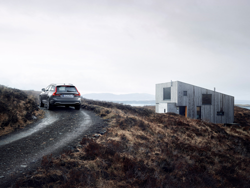 2016 - Volvo V90 Cross Country at The Hen House in Fiscavaig on Isle of Skye in Scotland, UK