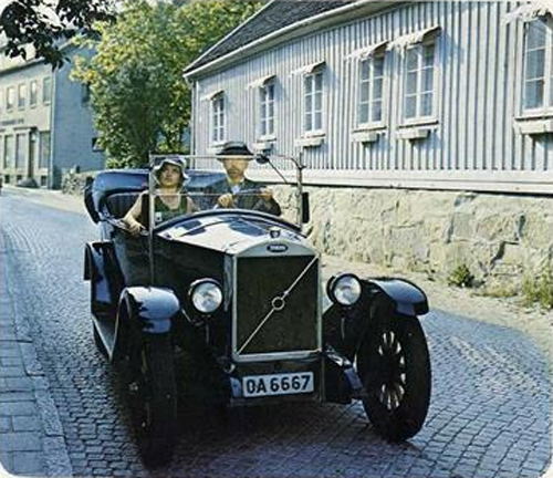 1927 - Volvo ÖV4 in Västra Gatan in Kungälv (photo made in 1975)