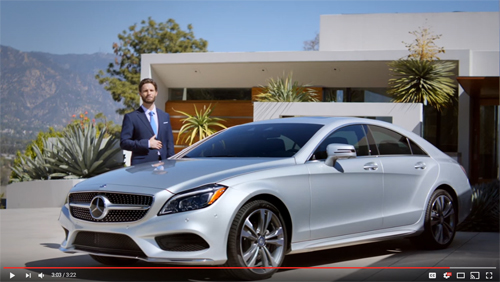 2015 - Mercedes-Benz 2015 CLS Coupe Video Brochure from Youtube at Pasadena House!