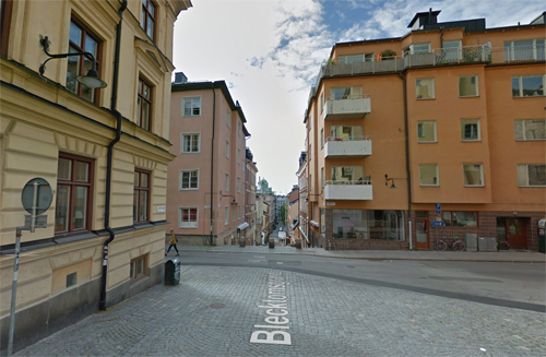 2016 - Blecktornsgränd in Stockholm (Google Streetview)
