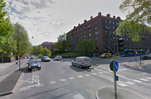 2016 - At the corner of Läraregatan and Röhssgatan in Göteborg (Google Streetview)