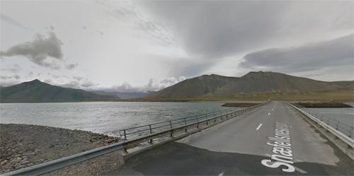 2016 - Skagafjörður bridge at Kolgrafafjörður in West Iceland (Google Streetview)