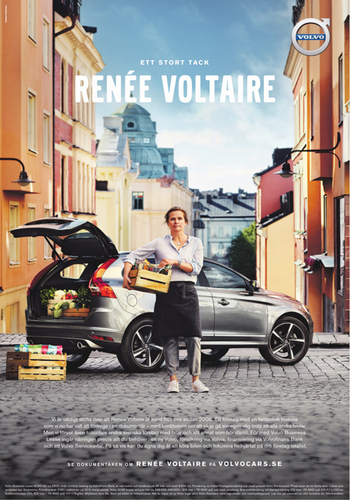2016 - Volvo Business Lease Campaign with Renee Voltaire