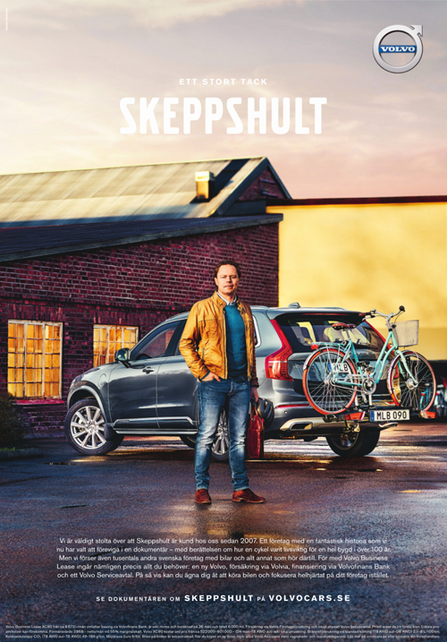 2016 - Volvo Business Lease Campaign in Sweden with Skeppshult