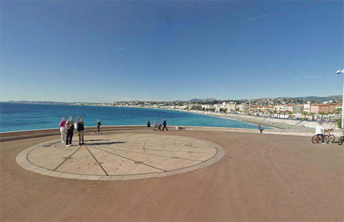 2016 - Cadran Solaire on Quai Rauba Capeu in Nice in France (Google Streetview)