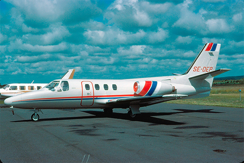 1979-06-30 - Cessna 500 Citation I with SE-DEP on Säve Airport (photography by Lars E Lundin)
