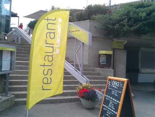 2016 - Le Lacustre Restaurant on Quai Jean-Pascal Delamuraz in Lausanne