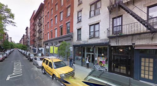 2009- 92 Thompson St in SoHo in Lower Manhattan in New York (Google Streetview)